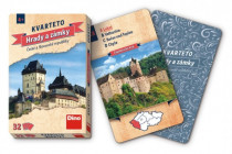 Kvarteto Hrady a zámky spoločenská hra karty 32ks v papierovej krabičke