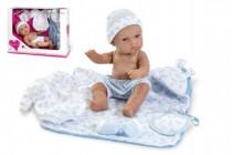 Bábika / bábätko 33cm tvrdé telo s doplnkami