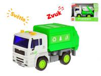 Auto upratovacie 18 cm 1:20 na zotrvačník na batérie so svetlom a zvukom - mix variantov či farieb