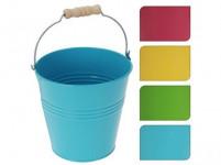 kvetináč dekoračné 12,2x12,5cm plech - mix farieb