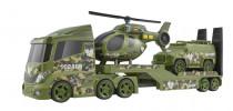 Teamsterz vojenská preprava helikoptéry so zvukom a svetlom