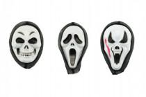 Maska karneval plast 20cm - mix variant či barev