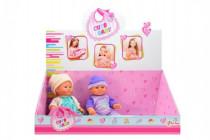 Bábika / bábätko plast pevné telo 21cm - mix variantov či farieb