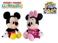 Mickey Mouse a Minnie plyšoví 20 cm na baterie se zvukem - mix variant či barev