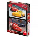 Puzzle 2x77 dílků: Cars 3: Závodníci