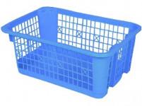 košík stohovateľný 30x21x12cm plastový (veľký) - mix farieb