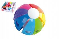 Lopta dúhový hrkálka plast 10cm