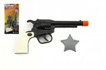 Pištoľ / Kolt Klapač + šerifská hviezda plast 18cm
