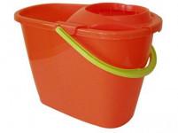 vedro 8l ovál k mopu + žmýkač plastové - mix farieb