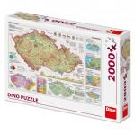 Puzzle 2000 dielikov: Mapy Českej republiky