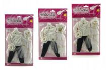 Šaty / Oblečenie na bábiky / panáčik na karte 21x38cm - mix variantov či farieb