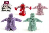 Šaty / Oblečenie kabátik na bábiky v sáčku 21x30cm - mix variantov či farieb