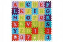 Penové puzzle abeceda a čísla mix farieb 36ks - mix variantov či farieb