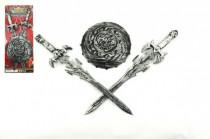 Rytířská sada 2 meče a štít plast 43cm