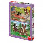 Puzzle Krtko a zajace 2x66 dielikov 32,3x22cm