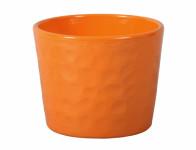 Obal na kvetináč NEAPOL keramický oranžový lesklý d15x13cm