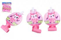 Frkačky papierové 6ks ružové v sáčku karneval