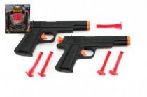 Pistole na přísavky 2ks policie plast 18cm