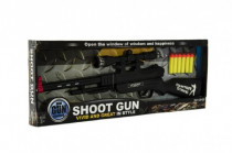 Pištoľ plast 55cm na penové náboje