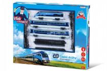 Sada vlak České dráhy s koľajami 23ks na batérie so zvukom so svetlom