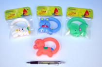 Hračka s úchytem gumová 10cm v sáčku 0m+ - mix variant či barev