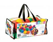Míček/Míčky do hracích koutů 6,5cm barevný 100ks v plastové tašce