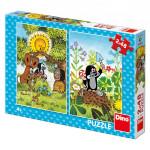 Puzzle Krtko 2x48 dielikov 18x26cm