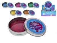 Chytrá hmota v plechovce se třpytkami - mix barev