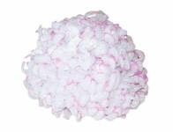 Kvet voskový chryzantémy biely a lila 14cm