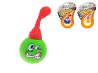 Vystřelovací míček 8 cm s obličejem - mix variant či barev