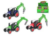 Traktor s ramenem kov 10 cm zpětný chod - mix barev