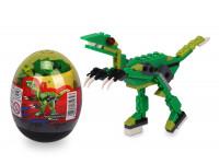Stavebnica wang - Dinosaur vo vajci (Tyrannosaurus Rex - zelený)