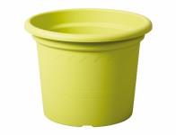 Květník GEO plastový světle zelený d25x19cm