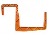 Držiak na truhlík balkón - S hranol terakota 15 cm