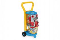 Vozík s nářadím plast s doplňky v síťce Wader