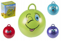 Skákacie loptu smajlík s úchytom 45cm nosnosť 60kg - mix variantov či farieb