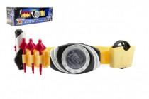 Opasek pro bojovníka plast 35cm na baterie se světlem