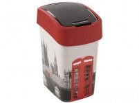kôš odpadkový 25l FLIP LONDON s vekom plastový