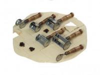 radielkom 4x4cm nerez + drevená rukoväť