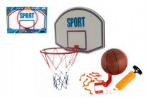 Basketbalový kôš + loptička s pumpičkou kov 61cm