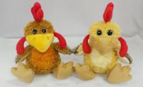 Kuřátko plyšové hnědé, žluté