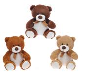 Medvěd plyšový 25 cm s mašlí - mix barev