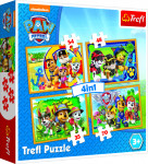 Puzzle 4v1 Tlapková Patrola / Paw Patrol