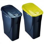 koš na tříděný odpad výklopný 15l obdélníkový plastový - mix barev