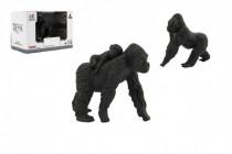 Zvieratká safari ZOO 8cm sada plast gorila 2 druhy