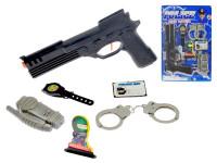 Sada policejní velká - pistole 26 cm klapací s doplňky