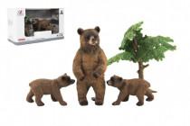 Zvieratká safari ZOO 10cm sada plast 4ks medveď 2 druhy