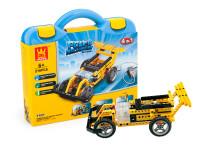 Elektronická stavebnica 4v1 Wang - pretekárske auto, traktor, automatické kliešte a basketbalový kôš