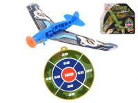 Lietadlo hádzací 24 cm s terčom - mix variantov či farieb