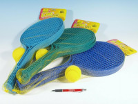 Soft tenis plast barevný+míček 53cm